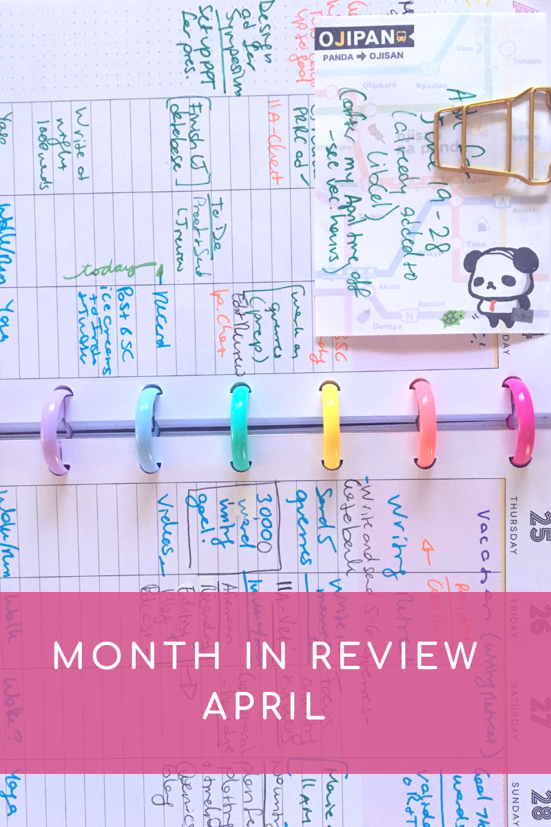 Month in review april